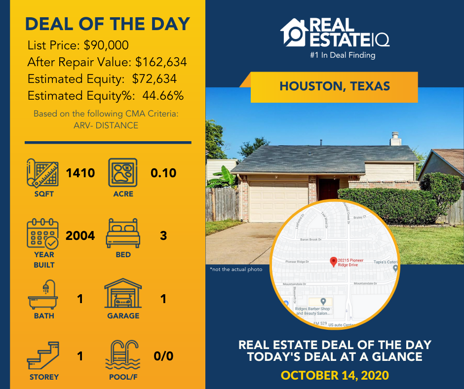 deal of the day, real estate, real estate iq, houston