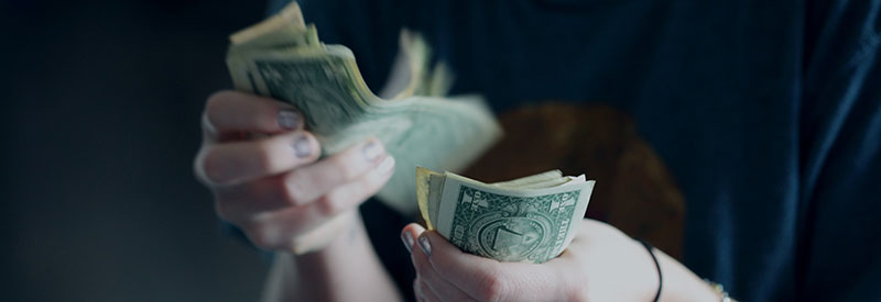 Obtaining the money from private lenders.