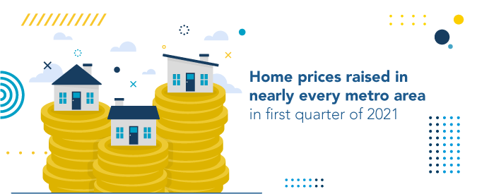 Home prices raised in nearly every metro area in the first quarter of 2021