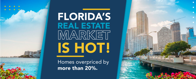 Homes in Florida are oberpriced by more than 20%