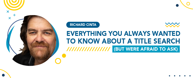 Richard Cinta explained why it's important to do a title search before an auction.