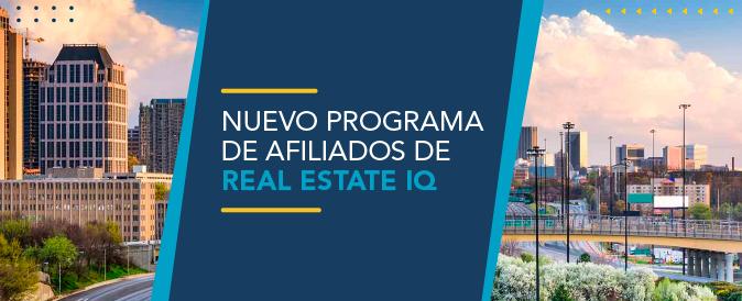 El Programa de Afiliados de Real Estate IQ es gratuito y se maneja por comisión.